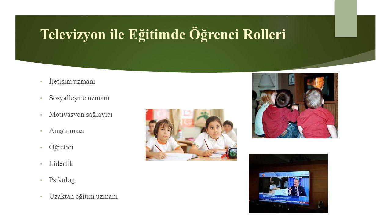 Televizyon ile Eğitimde Öğrenci Rolleri