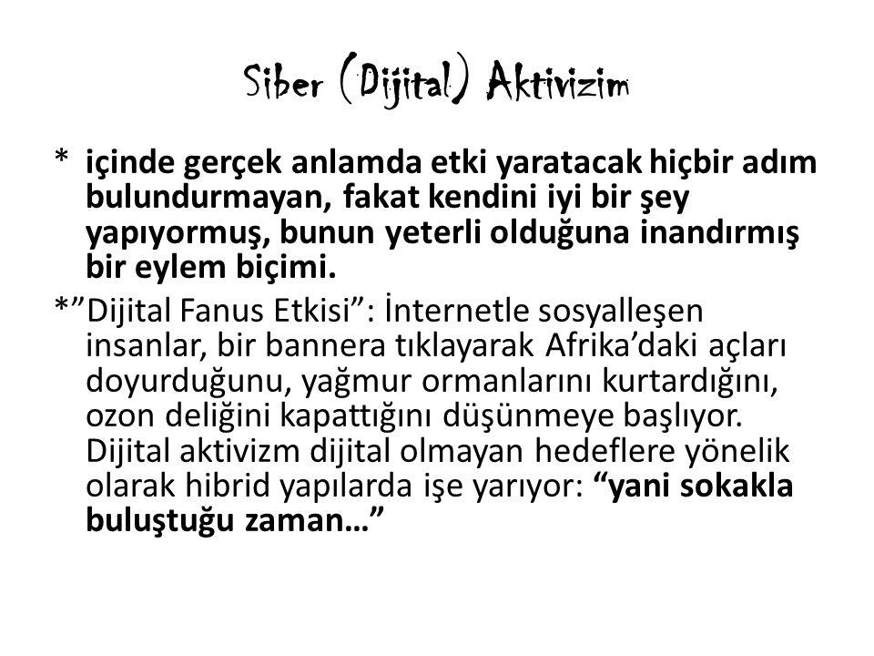 Siber (Dijital) Aktivizim