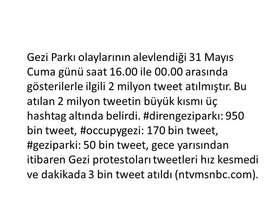 Gezi Parkı olaylarının alevlendiği 31 Mayıs Cuma günü saat 16