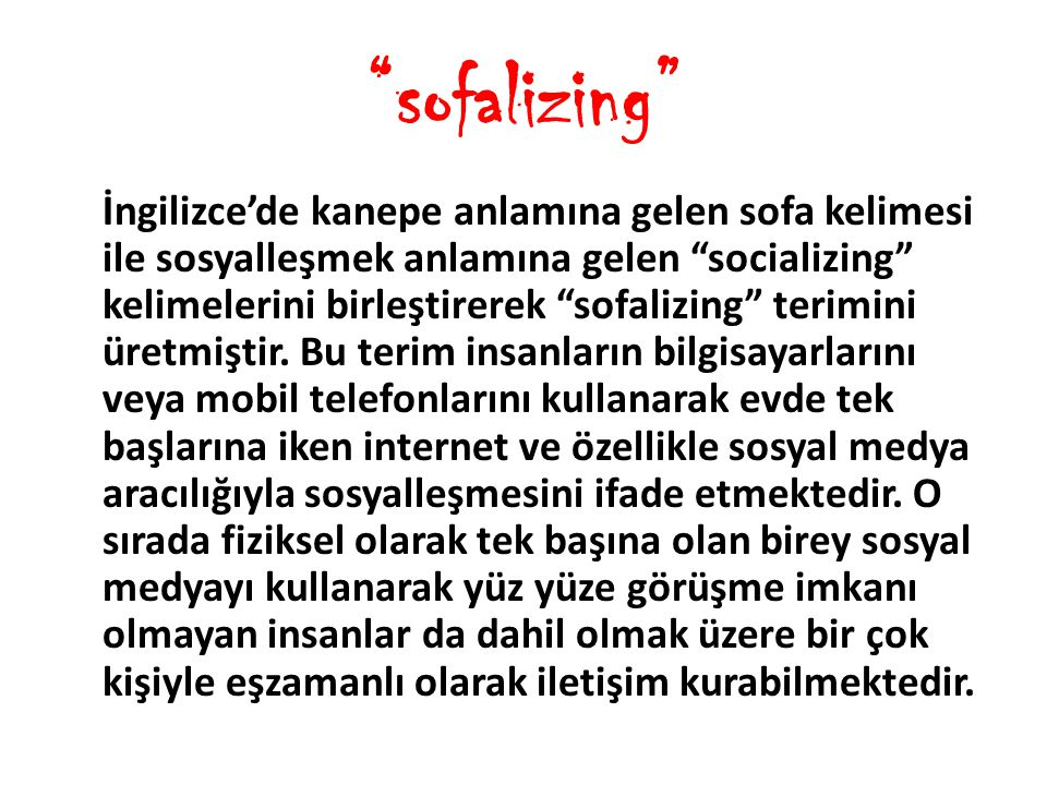 sofalizing