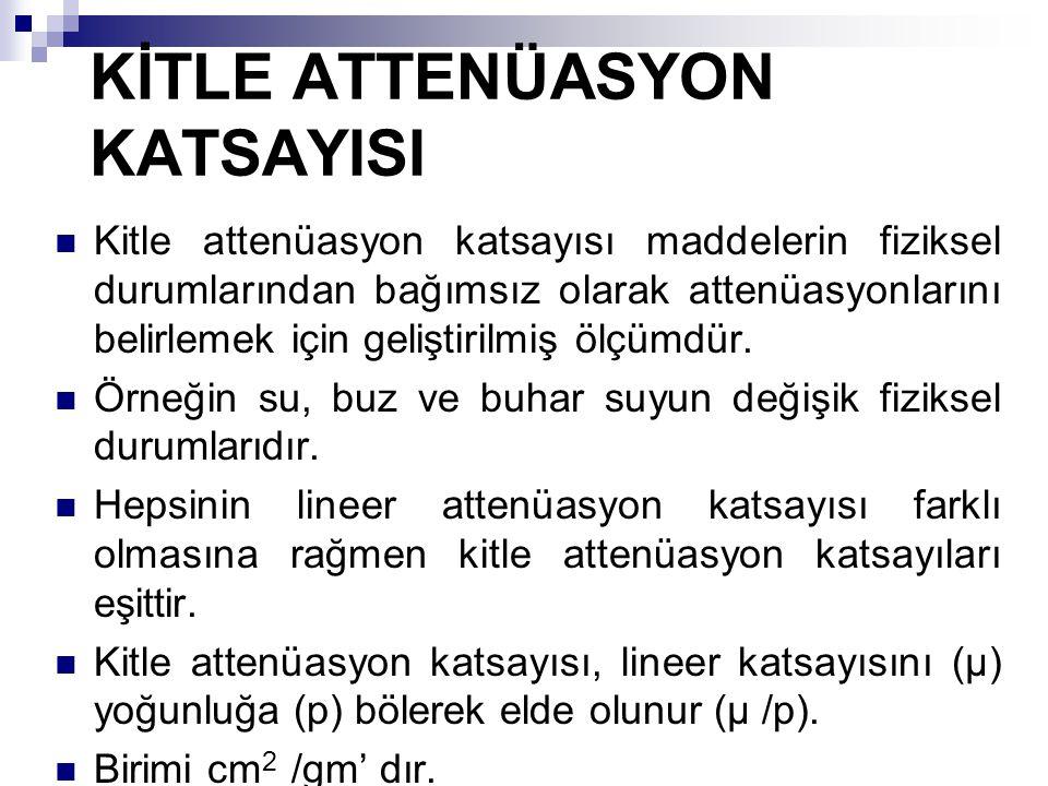 KİTLE ATTENÜASYON KATSAYISI