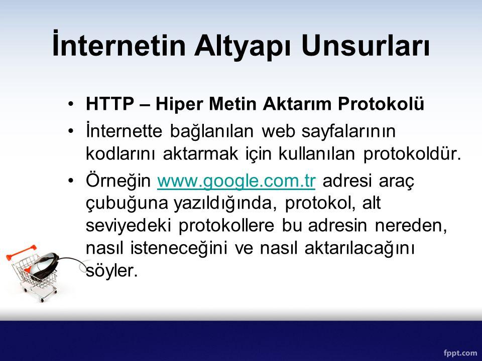 İnternetin Altyapı Unsurları