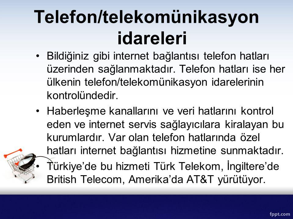 Telefon/telekomünikasyon idareleri