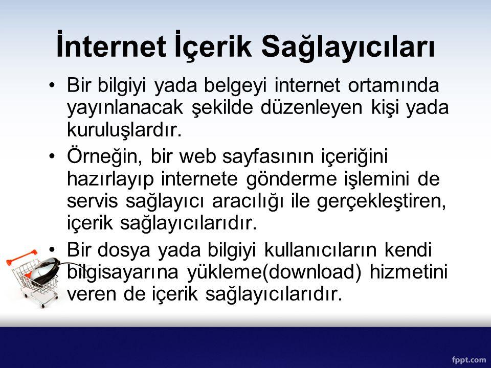 İnternet İçerik Sağlayıcıları