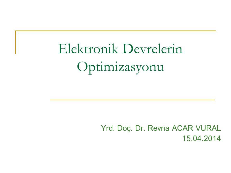 Elektronik Devrelerin Optimizasyonu