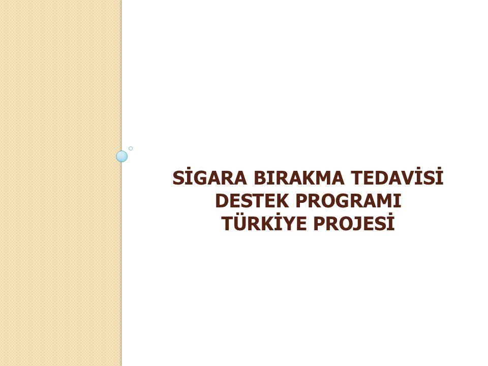 SİGARA BIRAKMA TEDAVİSİ DESTEK PROGRAMI TÜRKİYE PROJESİ
