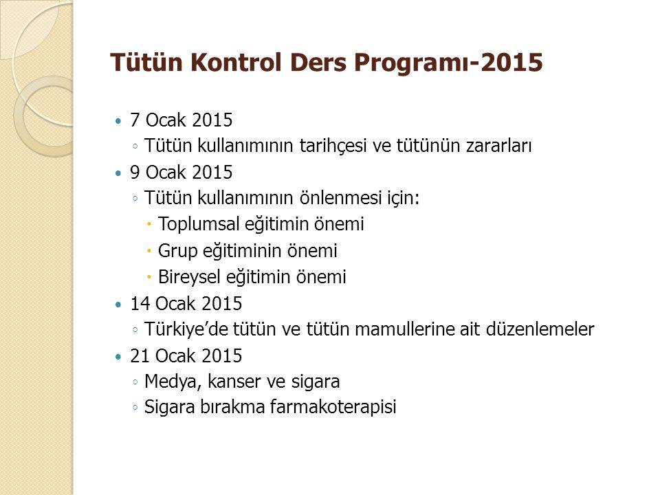 Tütün Kontrol Ders Programı-2015