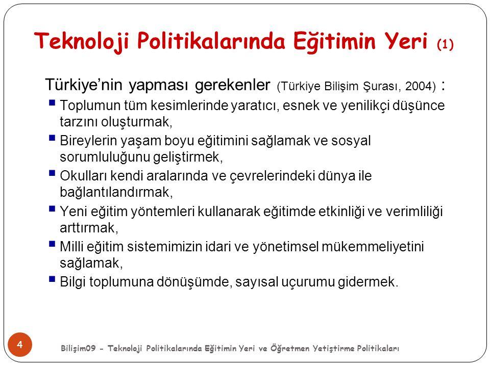Teknoloji Politikalarında Eğitimin Yeri (1)