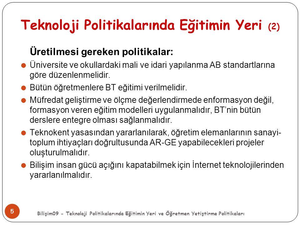 Teknoloji Politikalarında Eğitimin Yeri (2)