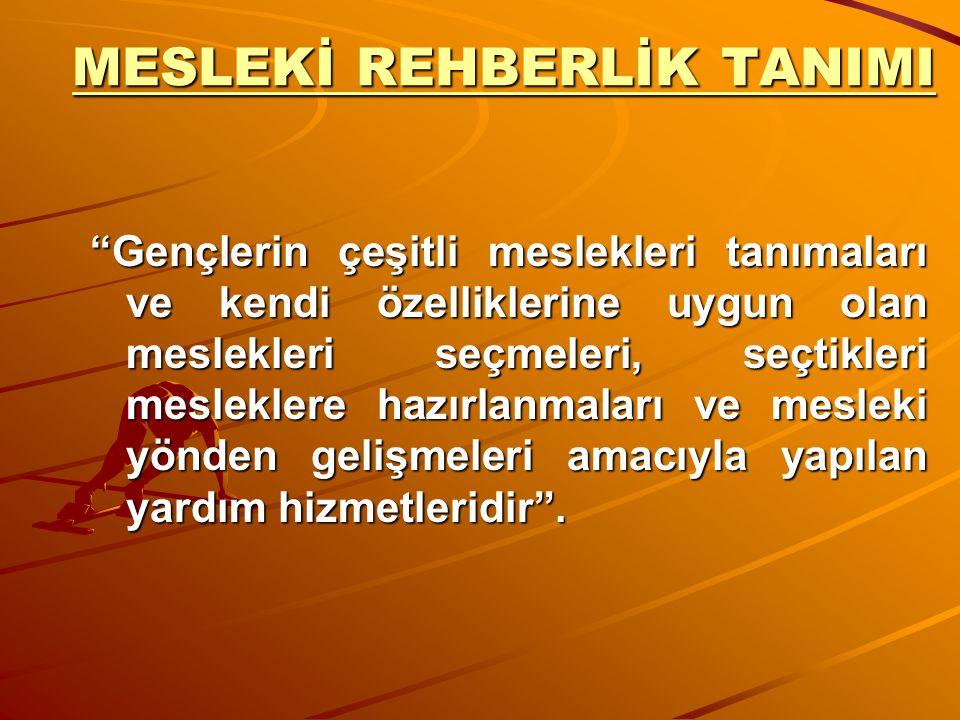 MESLEKİ REHBERLİK TANIMI