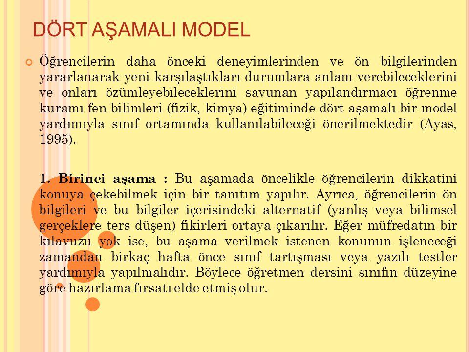 DÖRT AŞAMALI MODEL