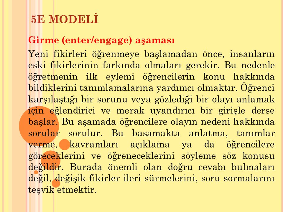 5E MODELİ