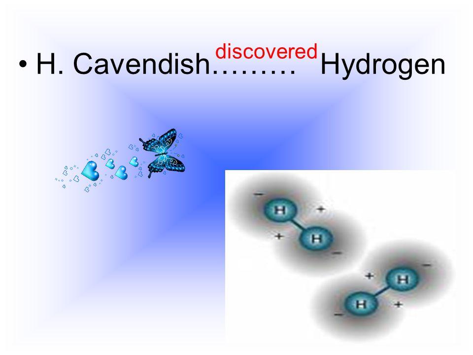 H. Cavendish……… Hydrogen