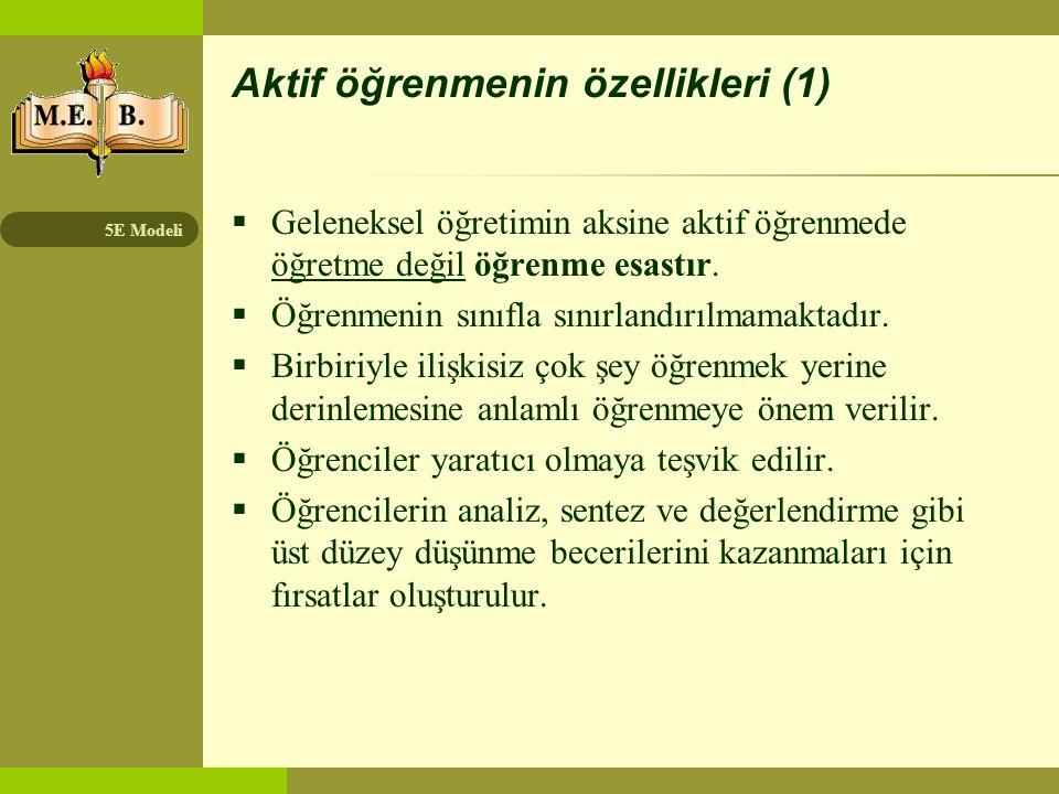 Aktif öğrenmenin özellikleri (1)