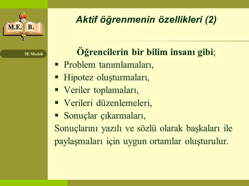 Aktif öğrenmenin özellikleri (2)