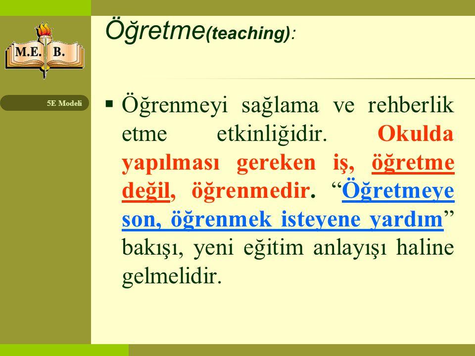 Öğretme(teaching):