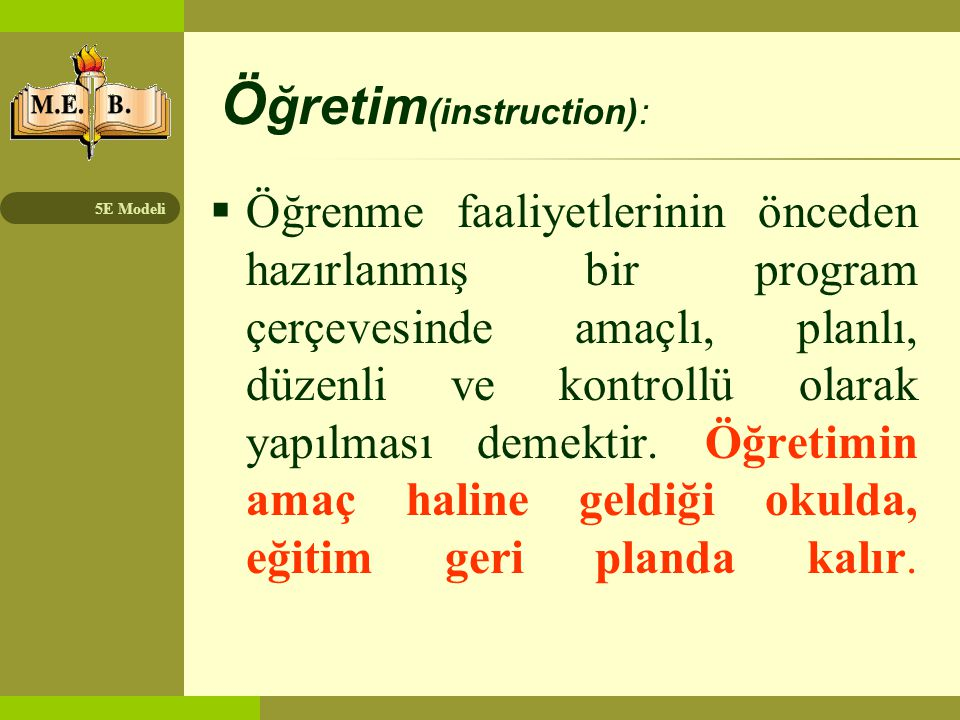 Öğretim(instruction):