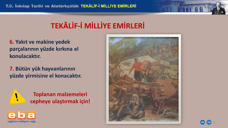 TEKÂLİF-İ MİLLİYE EMİRLERİ