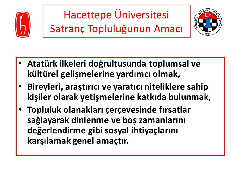 Hacettepe Üniversitesi Satranç Topluluğunun Amacı