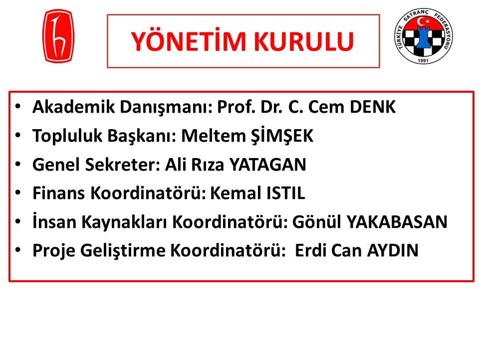 YÖNETİM KURULU Akademik Danışmanı: Prof. Dr. C. Cem DENK