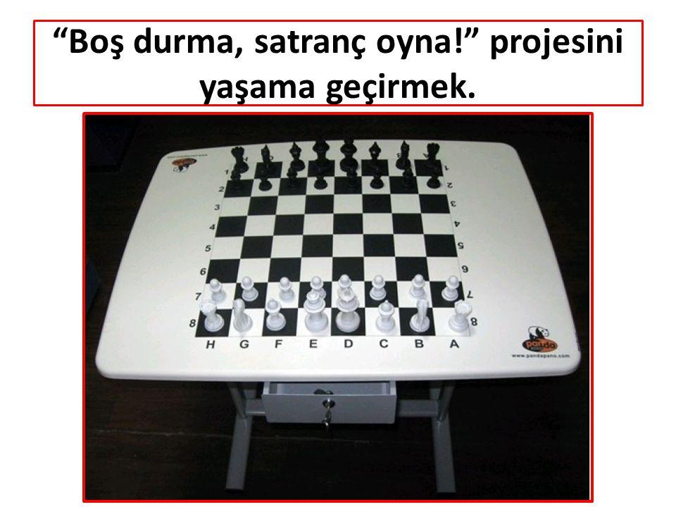 Boş durma, satranç oyna! projesini yaşama geçirmek.