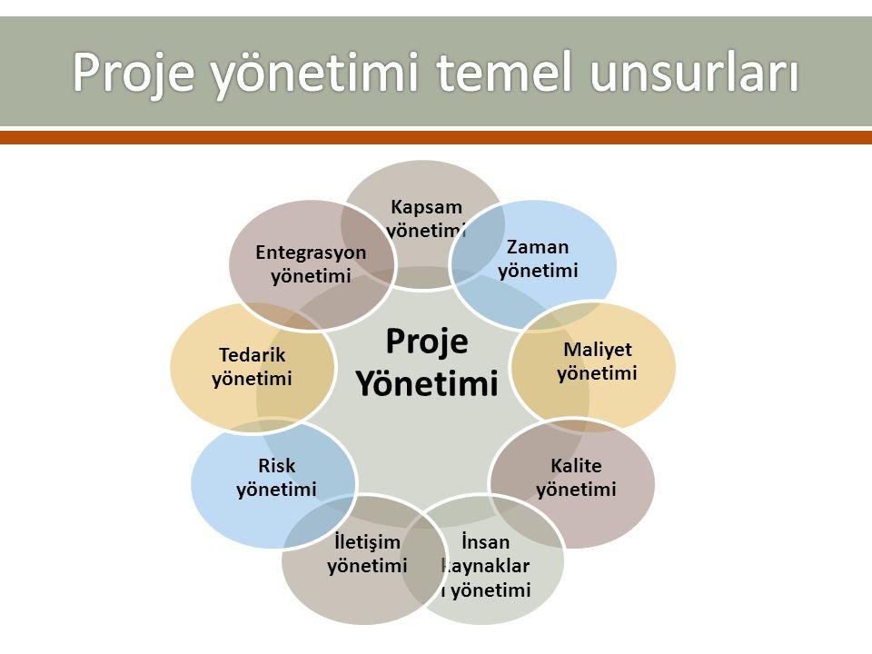 Proje yönetimi temel unsurları