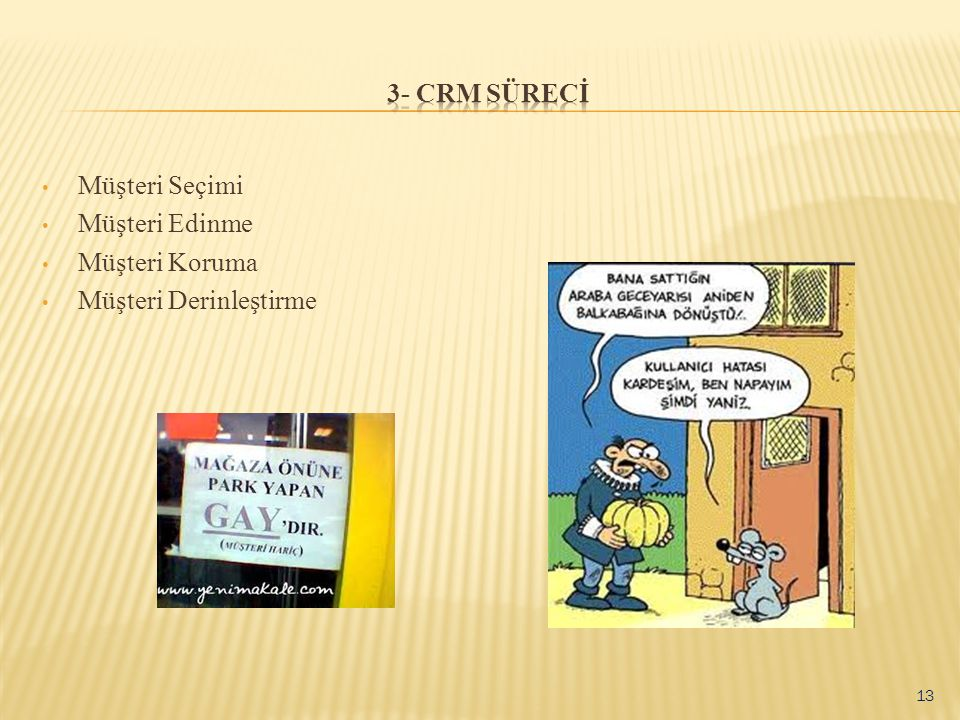 3- CRM SÜRECİ Müşteri Seçimi Müşteri Edinme Müşteri Koruma Müşteri Derinleştirme