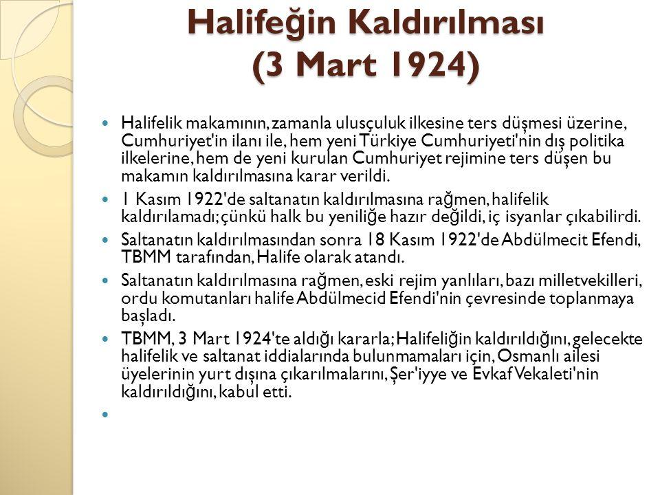 Halifeğin Kaldırılması (3 Mart 1924)