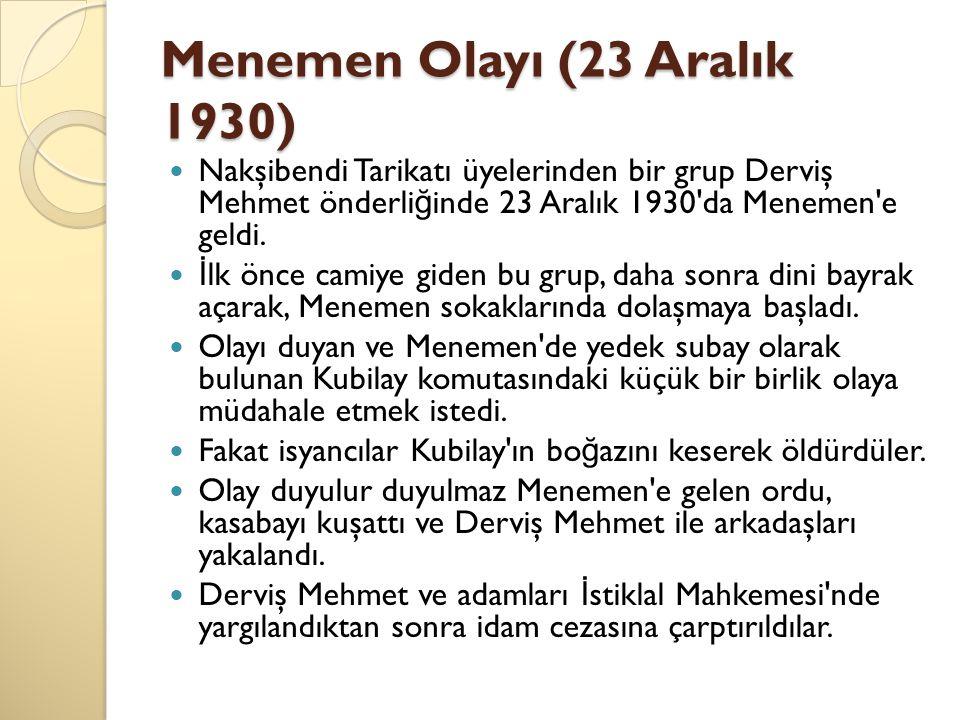 Menemen Olayı (23 Aralık 1930)