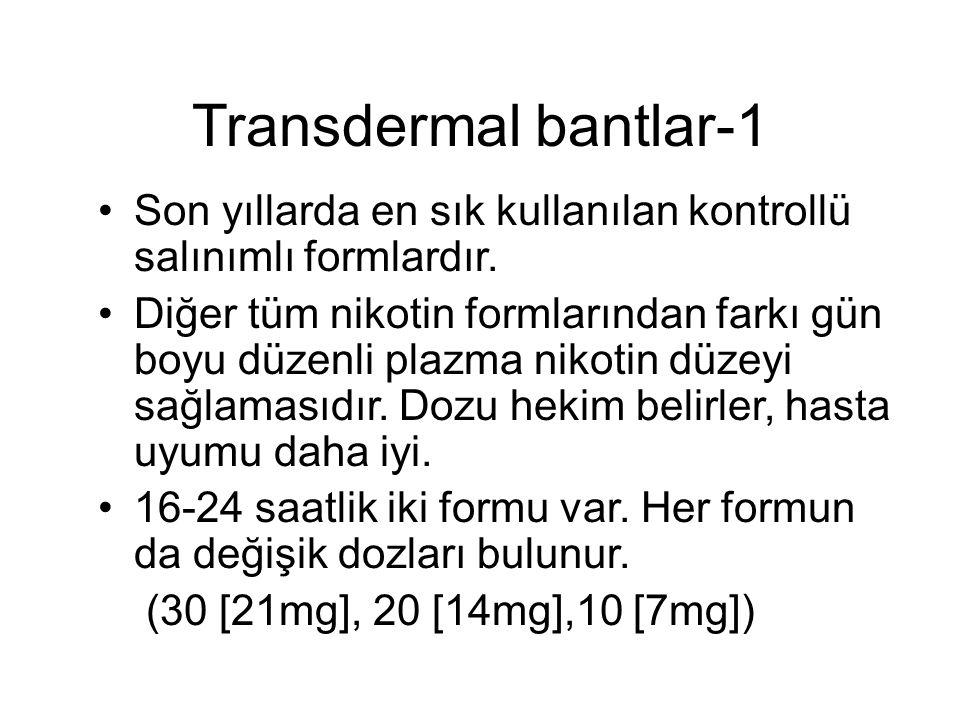 Transdermal bantlar-1 Son yıllarda en sık kullanılan kontrollü salınımlı formlardır.