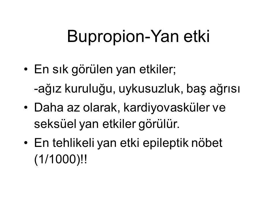 Bupropion-Yan etki En sık görülen yan etkiler;