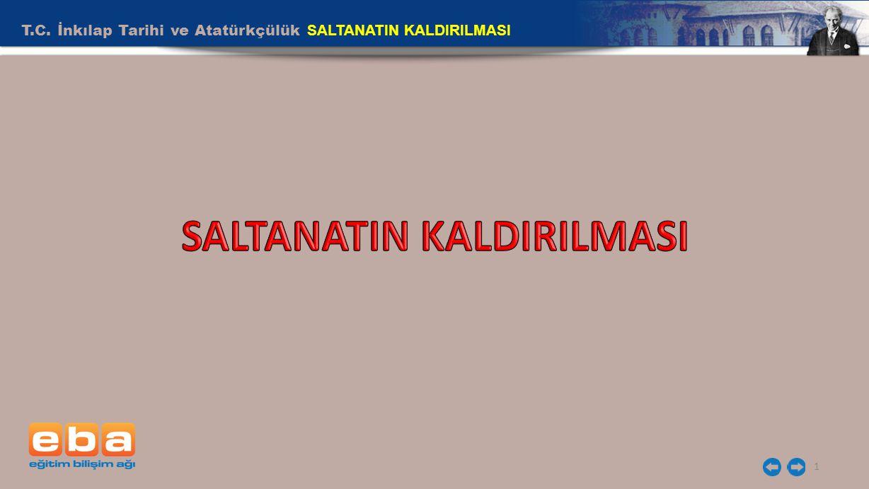 SALTANATIN KALDIRILMASI