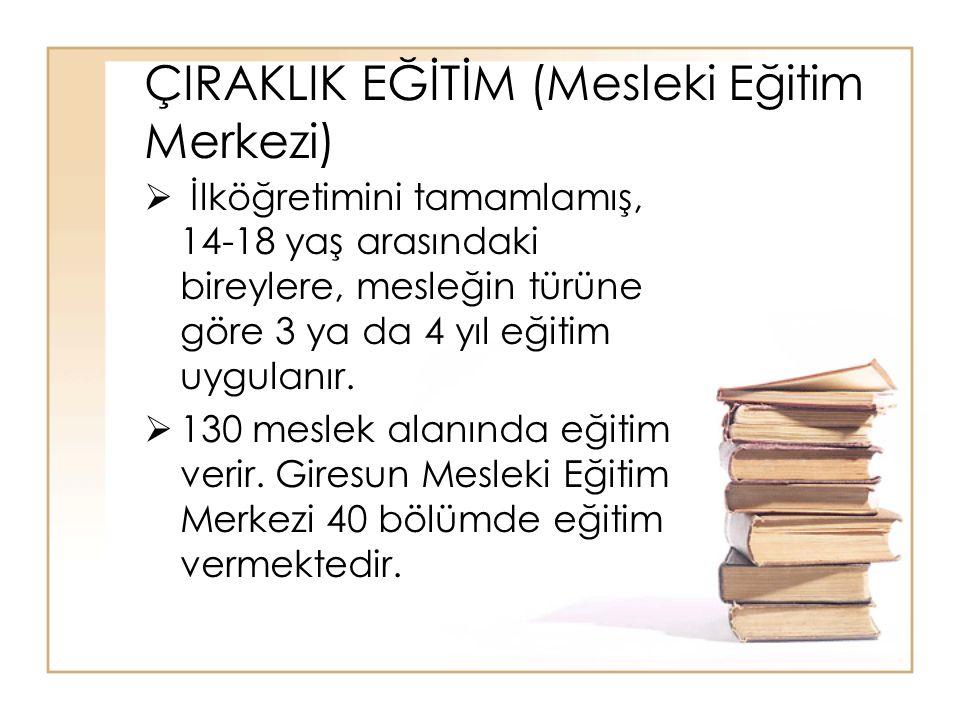 ÇIRAKLIK EĞİTİM (Mesleki Eğitim Merkezi)
