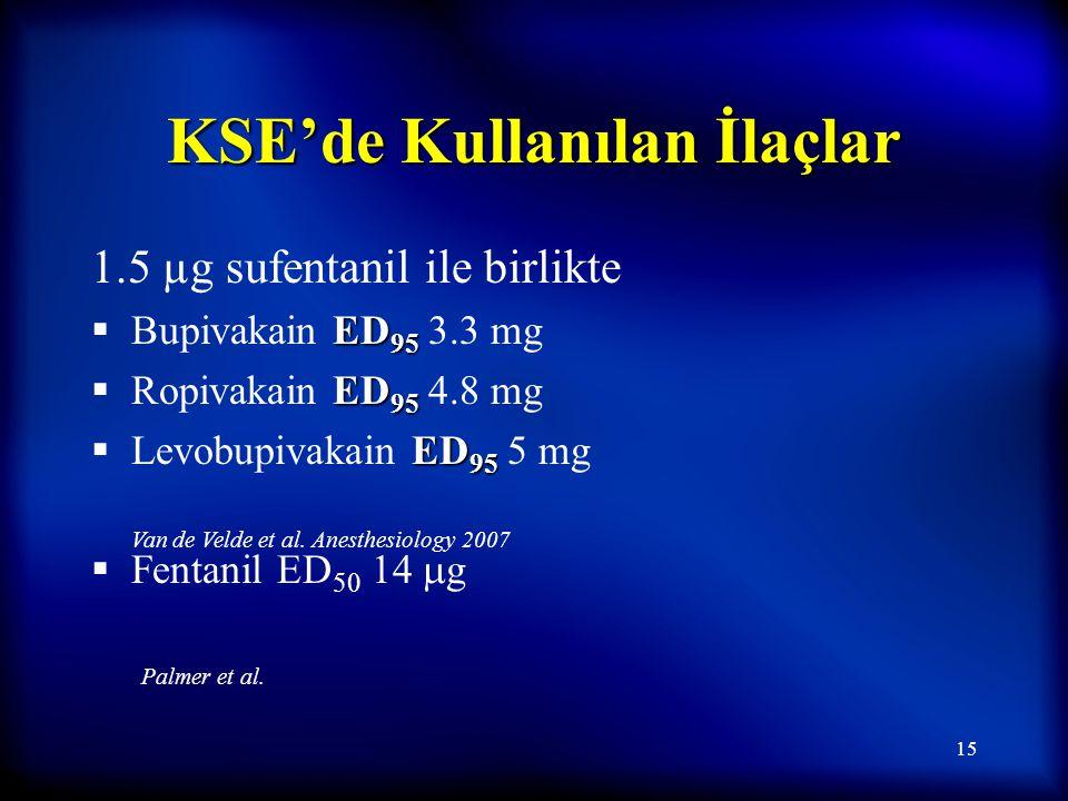 KSE'de Kullanılan İlaçlar