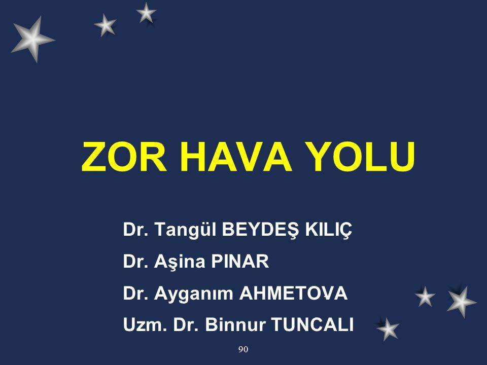 ZOR HAVA YOLU Dr. Tangül BEYDEŞ KILIÇ Dr. Aşina PINAR
