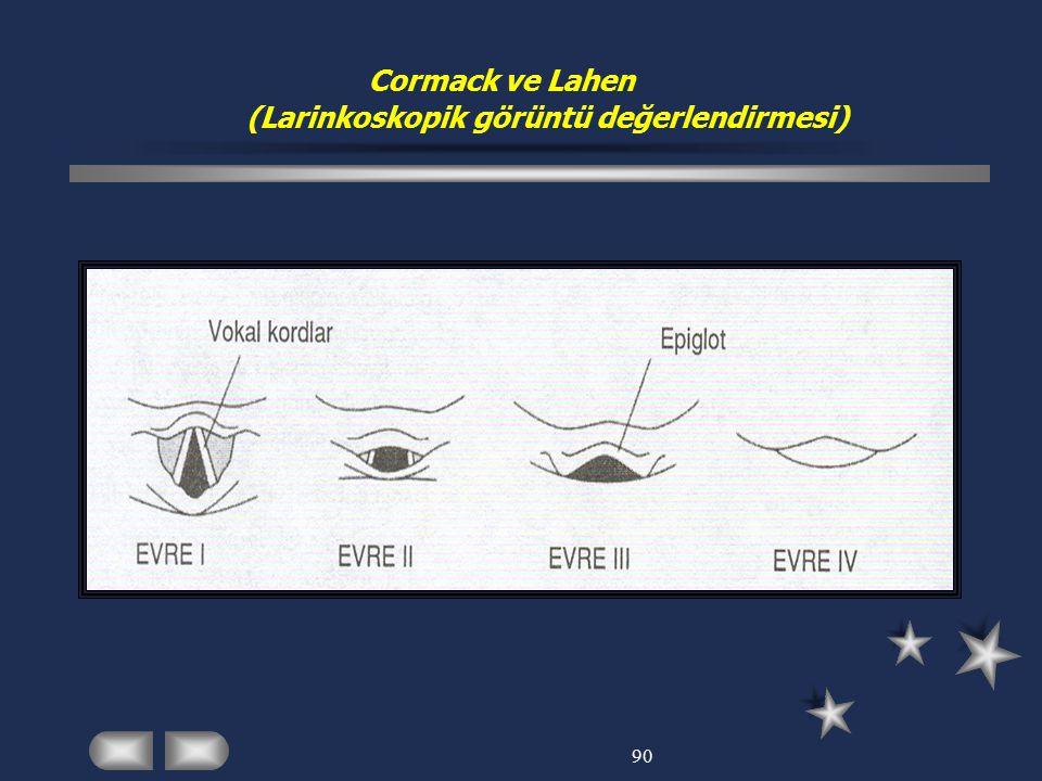 Cormack ve Lahen (Larinkoskopik görüntü değerlendirmesi)
