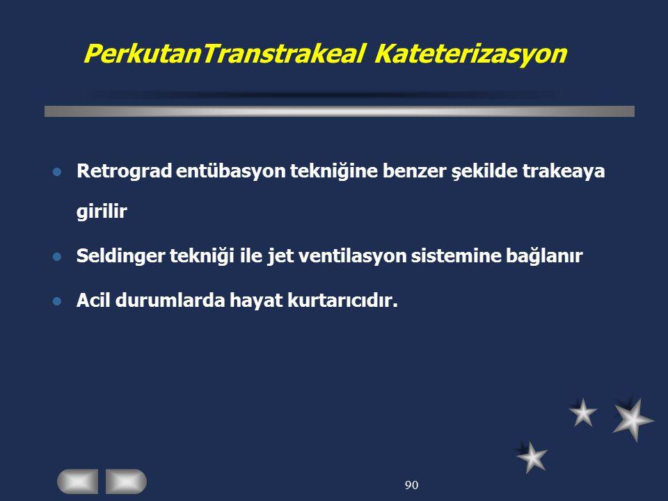 PerkutanTranstrakeal Kateterizasyon