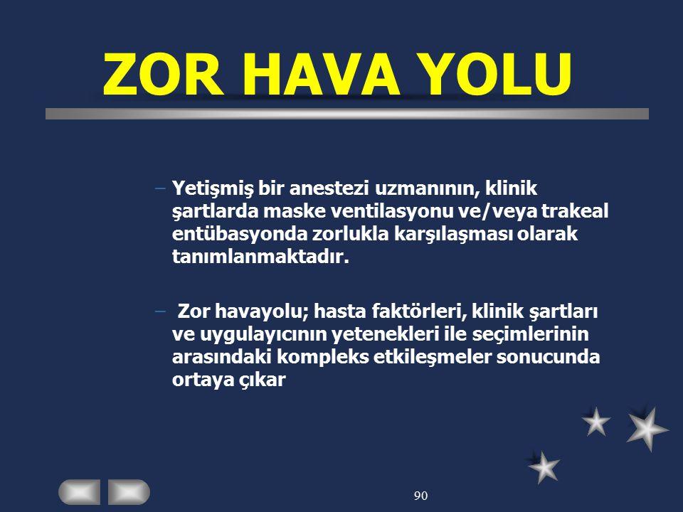 ZOR HAVA YOLU