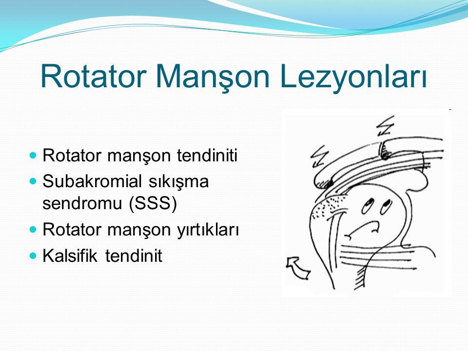 Rotator Manşon Lezyonları