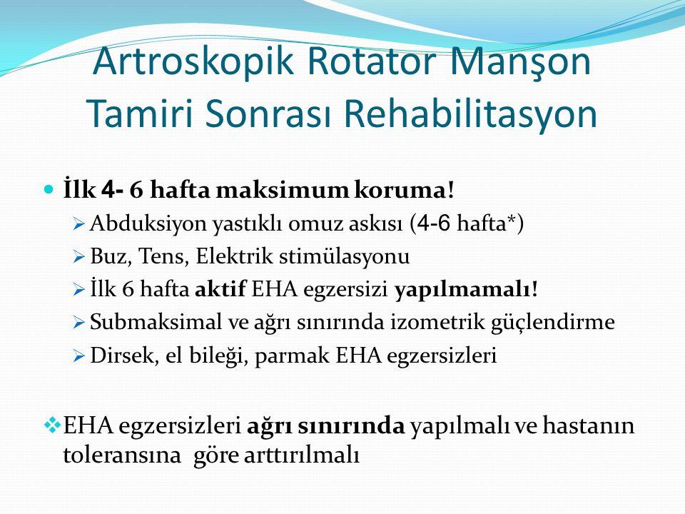 Artroskopik Rotator Manşon Tamiri Sonrası Rehabilitasyon