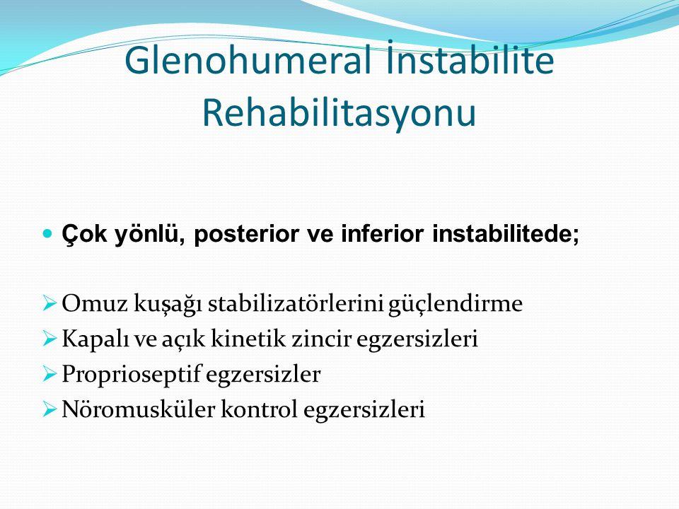 Glenohumeral İnstabilite Rehabilitasyonu