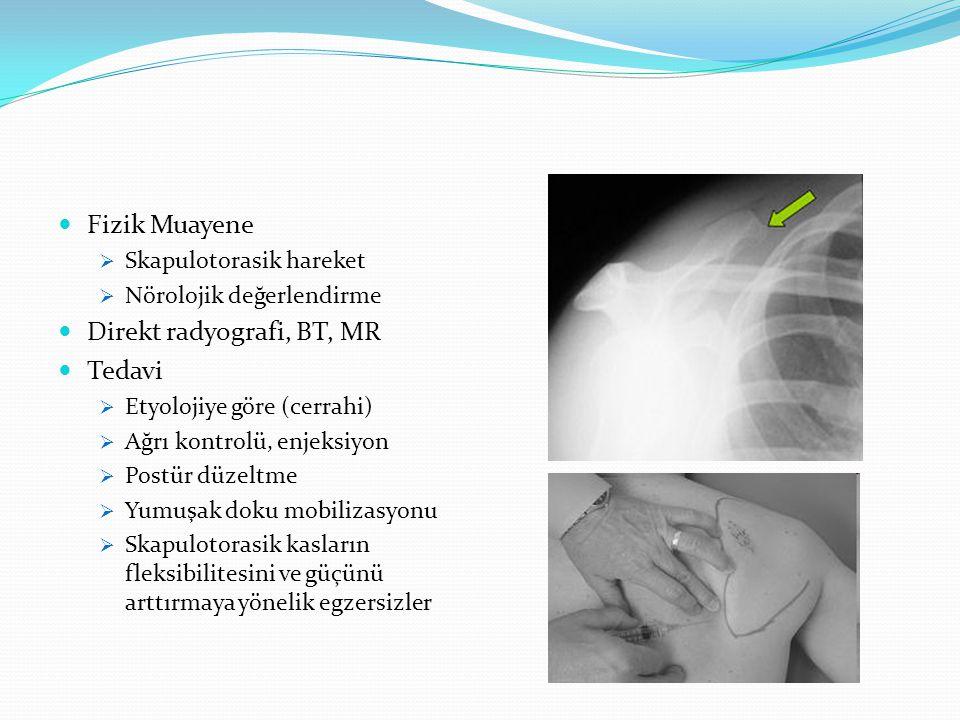 Direkt radyografi, BT, MR Tedavi