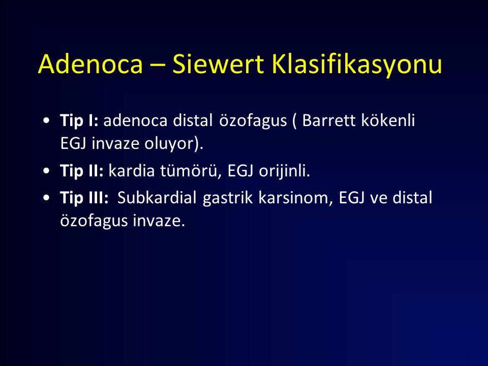 Adenoca – Siewert Klasifikasyonu
