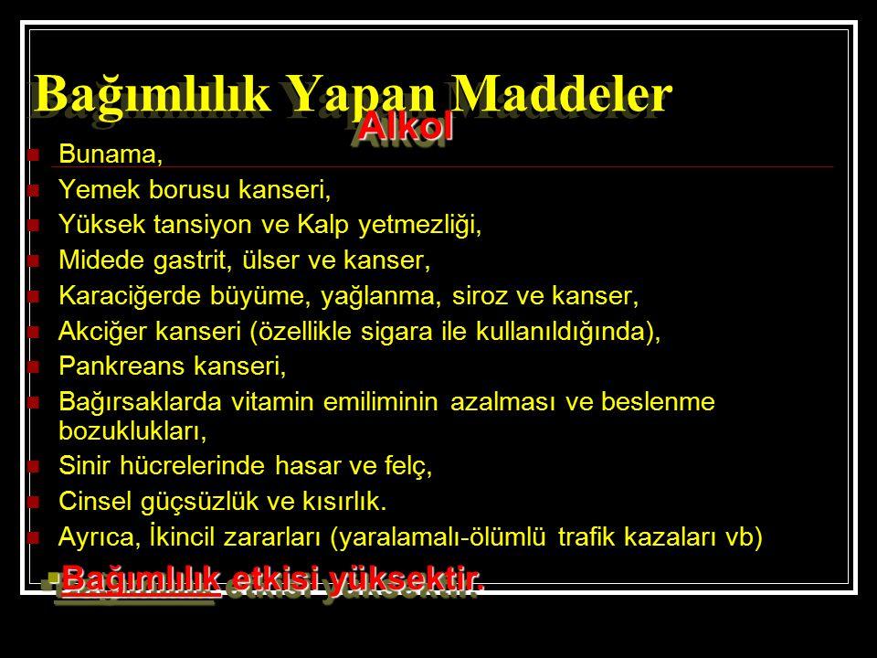 Bağımlılık Yapan Maddeler