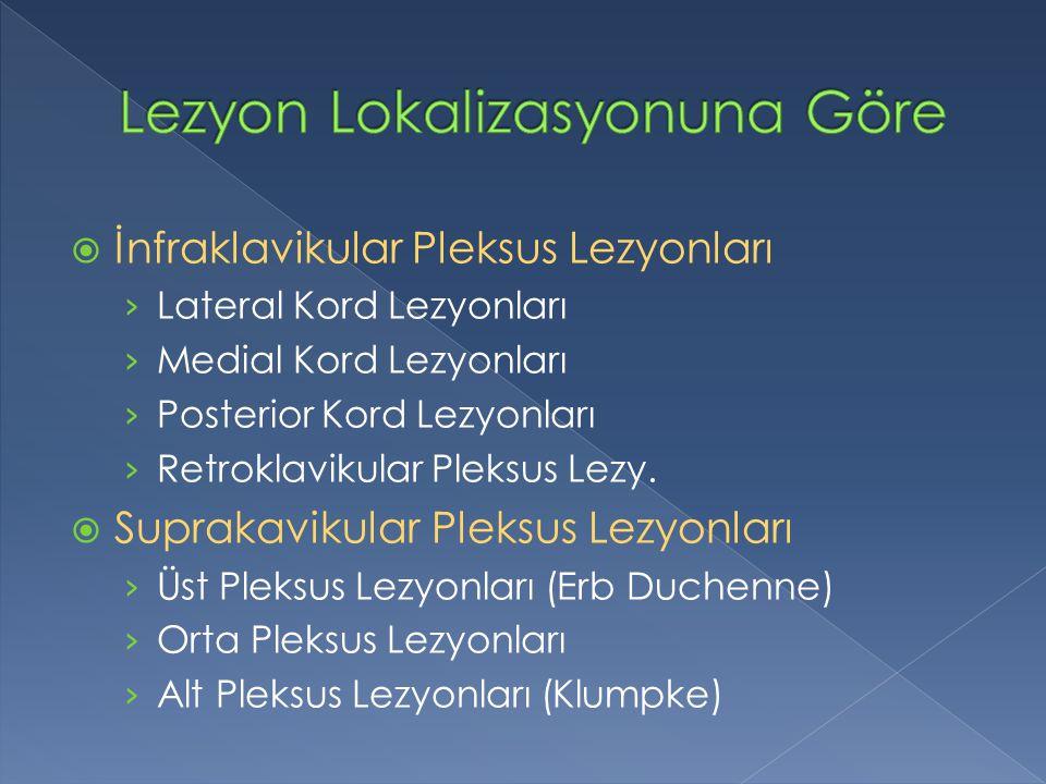 Lezyon Lokalizasyonuna Göre