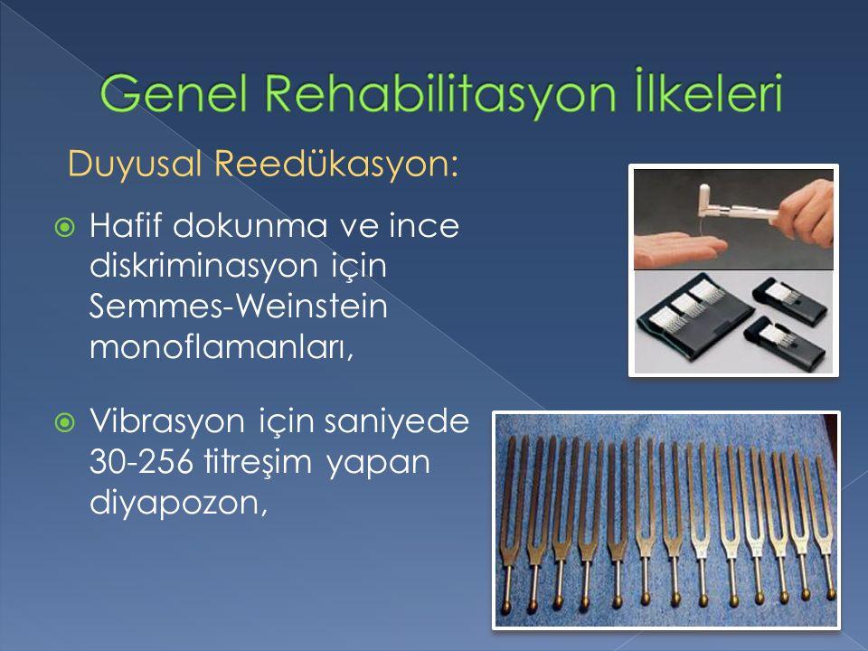 Genel Rehabilitasyon İlkeleri