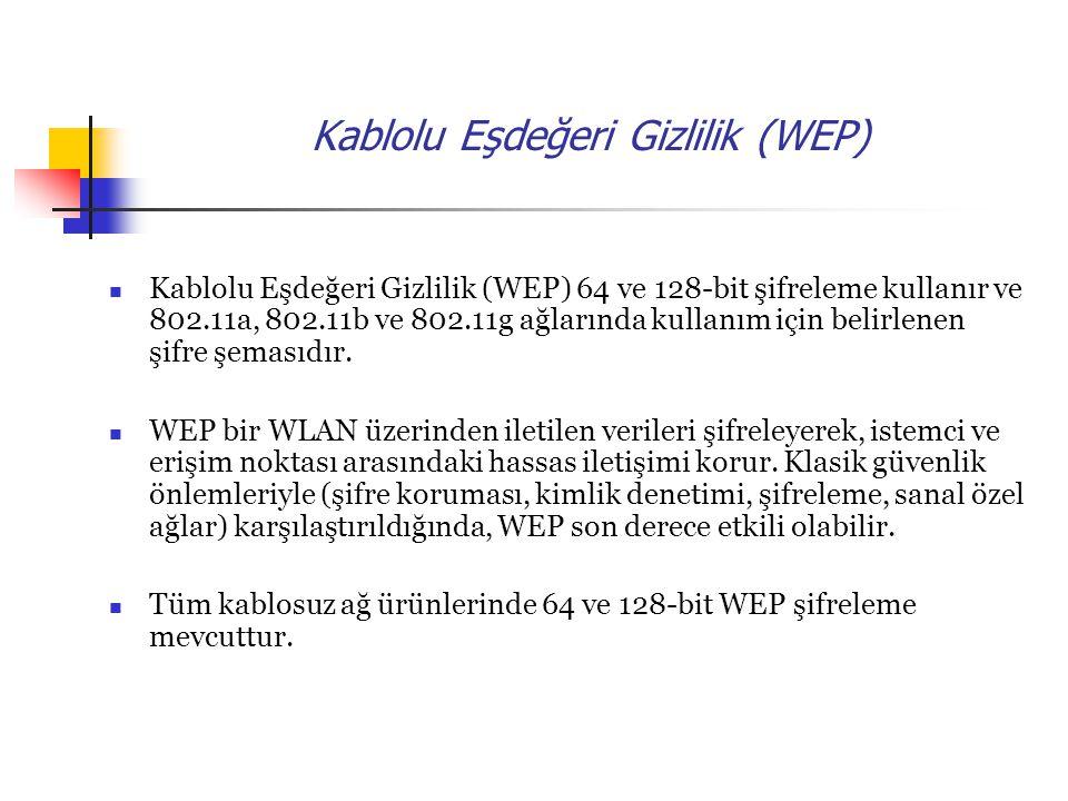 Kablolu Eşdeğeri Gizlilik (WEP)