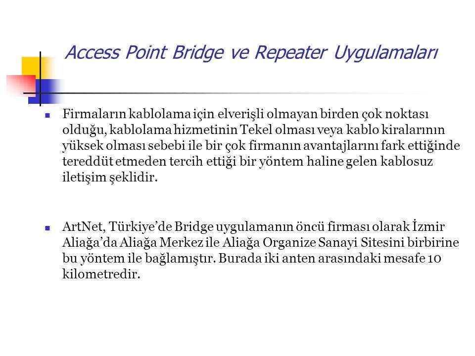 Access Point Bridge ve Repeater Uygulamaları