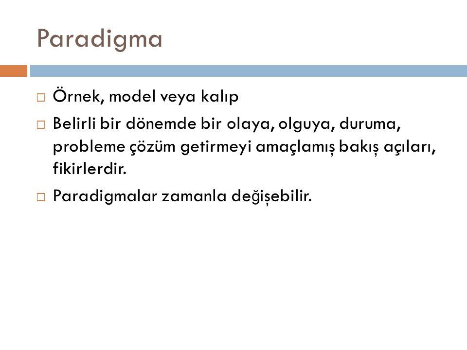 Paradigma Örnek, model veya kalıp