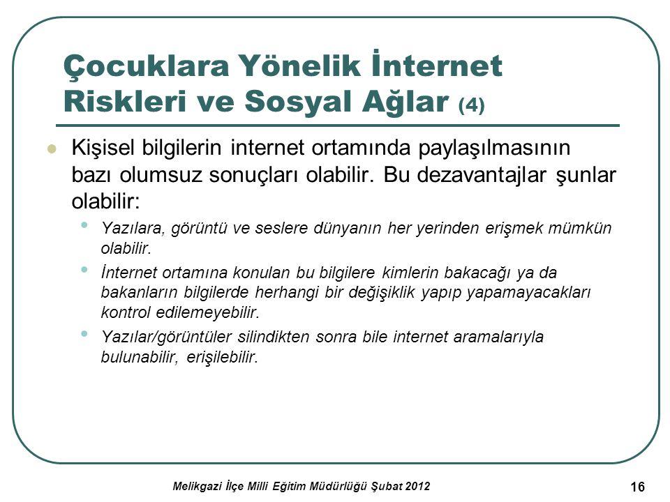 Çocuklara Yönelik İnternet Riskleri ve Sosyal Ağlar (4)